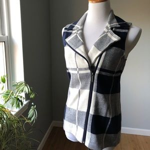 Chaps Vest NWT Blue Plaid
